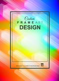 O fundo colorido geométrico abstrato com elevação saturou gradi Fotos de Stock Royalty Free