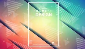 O fundo colorido geométrico abstrato com elevação saturou gradi Imagens de Stock Royalty Free