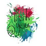O fundo colorido sumário agradece-lhe Imagens de Stock Royalty Free