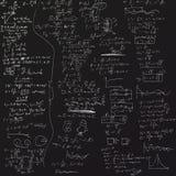 O fundo com fórmulas físicas Imagens de Stock