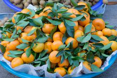 O fundo com o fruto das laranjas doces crescido nos trópicos peça 8 imagens de stock