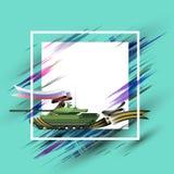 O fundo com o tanque o 23 de fevereiro, pode 9, o dia dos soldados, bandeira - vector eps10 ilustração royalty free