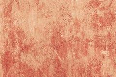 O fundo concreto da pintura da cor vermelha pintou a textura da parede Imagens de Stock