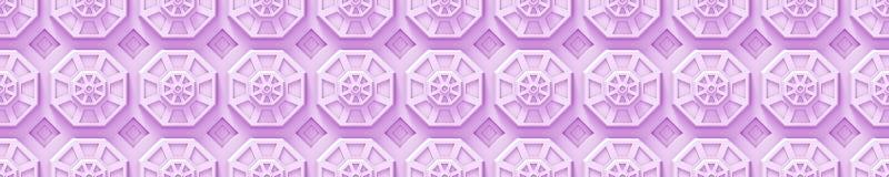 O fundo cor-de-rosa da tecnologia com octógono baseou as formas (sem emenda) Foto de Stock Royalty Free