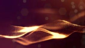 o fundo 3d dado laços abstrato com partículas do fulgor como a festão do Natal ou do ano novo ou acende que o formulário se conto ilustração do vetor