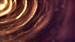 o fundo 3d dado laços abstrato com partículas do fulgor como a festão do Natal ou do ano novo ou acende que o formulário se conto ilustração stock