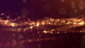 o fundo 3d dado laços abstrato com partículas do fulgor como a festão do Natal ou do ano novo ou acende que o formulário se conto ilustração royalty free