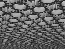 O fundo 3d do sumário do teste padrão da engrenagem da perspectiva rende Fotografia de Stock Royalty Free