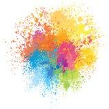 O fundo da cor da pintura espirra Foto de Stock