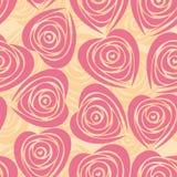 O fundo da flor com levantou-se como o coração. Imagens de Stock Royalty Free