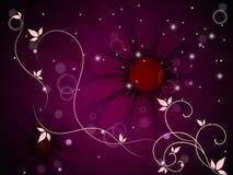 O fundo da flor significa Bud Blossom And Grow ilustração stock