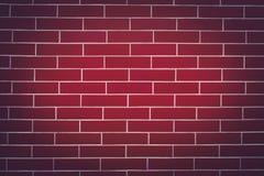 Fundo de uma obscuridade - parede de tijolo vermelho Imagem de Stock