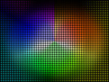 O fundo da roda de cor mostra a máscara e o pigmento da coloração Imagens de Stock