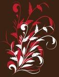 O fundo das folhas vermelhas e do branco Fotografia de Stock Royalty Free