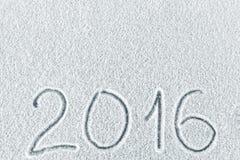 O fundo de ano novo e de Natal da neve Fotografia de Stock