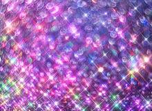 O fundo de brilhar estrelas coloridas em um fundo preto foto de stock royalty free