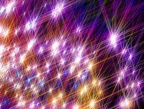 O fundo de brilhar estrelas coloridas em um fundo preto fotos de stock royalty free