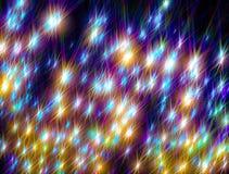 O fundo de brilhar estrelas coloridas em um fundo preto fotografia de stock