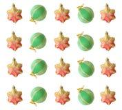 O fundo de decorações do Natal Imagens de Stock