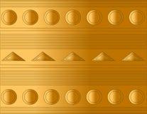 O fundo de flutuação das formas circunda trangiles e listras Imagens de Stock Royalty Free