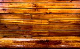 O fundo de madeira é marrom foto de stock