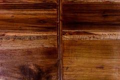O fundo de madeira é marrom Fotos de Stock Royalty Free