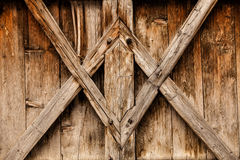 O fundo de madeira com antiguidade apresenta o projeto geométrico Imagens de Stock Royalty Free