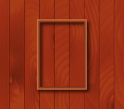 Fundo de madeira com folha de prova do quadro Foto de Stock