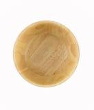 O fundo de madeira da bacia isolado no branco para você projeta Imagens de Stock Royalty Free