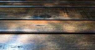 O fundo de madeira da textura, ilumina o carvalho rústico resistido pintura envernizada de madeira desvanecida que mostra a textu Fotografia de Stock Royalty Free