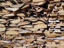 O fundo de placas de madeira arranjou as caras da extremidade fotografia de stock royalty free
