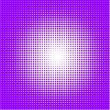 O fundo de pontos roxos de tamanhos diferentes tem a densidade diferente no branco ilustração royalty free