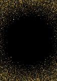 O fundo decorativo com um ouro stars a beira Imagem de Stock Royalty Free