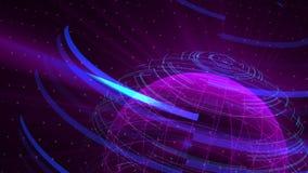 O fundo digital da distorção de vidro do globo, 3d abstrato rende, contexto gerado por computador ilustração royalty free