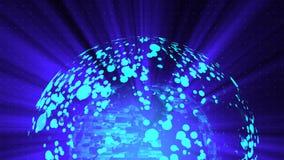 O fundo digital da distorção de vidro do globo, 3d abstrato rende, contexto gerado por computador ilustração do vetor