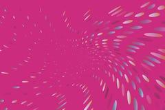 O fundo dinâmico brilhante com pontos de roda, ovals gosta de confetes Ilustração do vetor Estilo moderno, minimalista Pop art ilustração royalty free