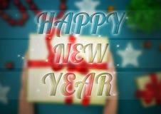 O fundo do ano novo feliz ilustração stock