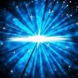 O fundo do brilho significa raios e o céu noturno luminosos Imagem de Stock Royalty Free