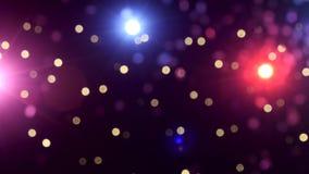 O fundo do concerto ilumina o bokeh vídeos de arquivo