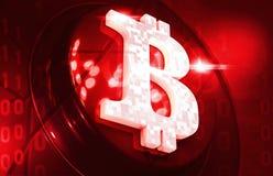 O fundo do cryptocurrency de Bitcoin rende a ilustração Foto de Stock Royalty Free