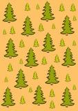 O fundo do Feliz Natal com árvore ilustração stock