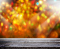 O fundo do feriado com o 3d de madeira vazio rende Imagens de Stock