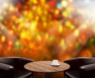 O fundo do feriado com o 3d de madeira vazio rende Imagem de Stock Royalty Free