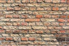 O fundo do grunge da textura da parede de tijolo vermelho, pode usar-se para o design de interiores fotos de stock