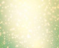 O fundo do Natal da faísca do abstact com flocos de neve e estrela Fotografia de Stock