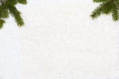 O fundo do Natal tem árvores de Natal Foto de Stock