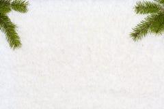 O fundo do Natal tem árvores de Natal Imagem de Stock