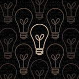O fundo do papel de parede do estilo do vintage da lâmpada do projeto Imagem de Stock Royalty Free