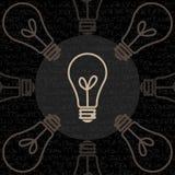 O fundo do papel de parede do estilo do vintage da lâmpada do projeto Imagens de Stock