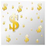 O fundo do sinal de dólar Imagem de Stock